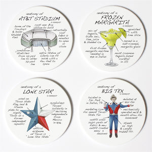 Dallas Anatomy Coaster Set