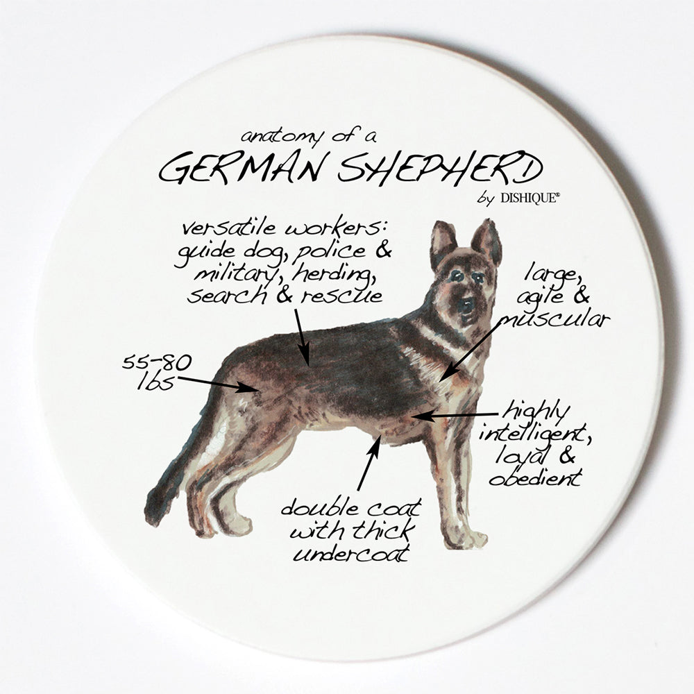 Individual Coaster - Dog Breed Gifts - German Shephard