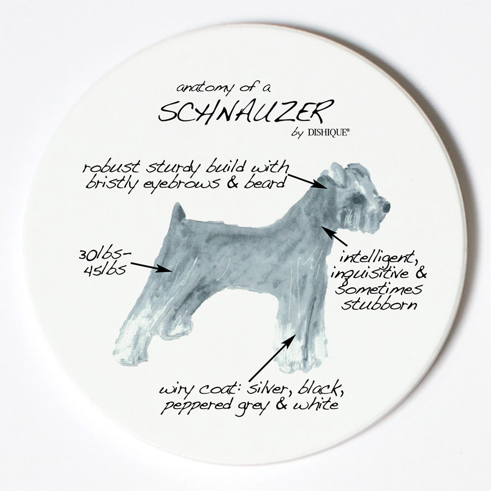 Individual Coaster - Dog Breed Gifts - Schnauzer