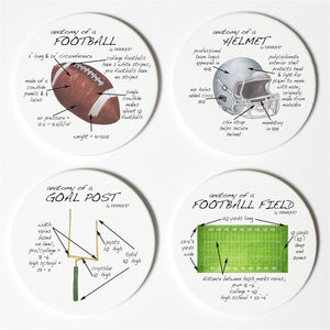 Football Anatomy Coaster Set