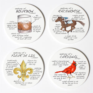 Louisville Anatomy Coaster Set