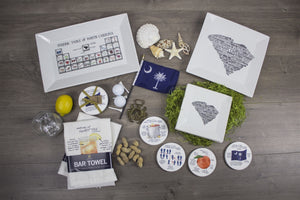 South Carolina Anatomy Coaster Set