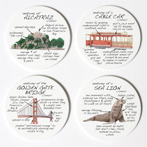 San Francisco Anatomy Coaster Set