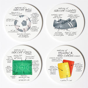 Soccer Anatomy Coaster Set