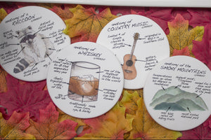 Tennessee Anatomy Coaster Set