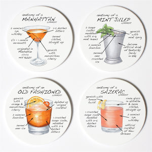 Whiskey Anatomy Coaster Set
