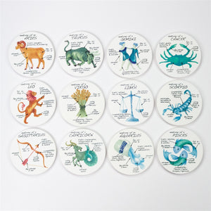 Aquarius Anatomy Individual Coaster - Zodiac Gifts