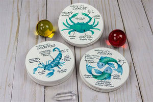 Pisces Anatomy Individual Coaster - Zodiac Gifts
