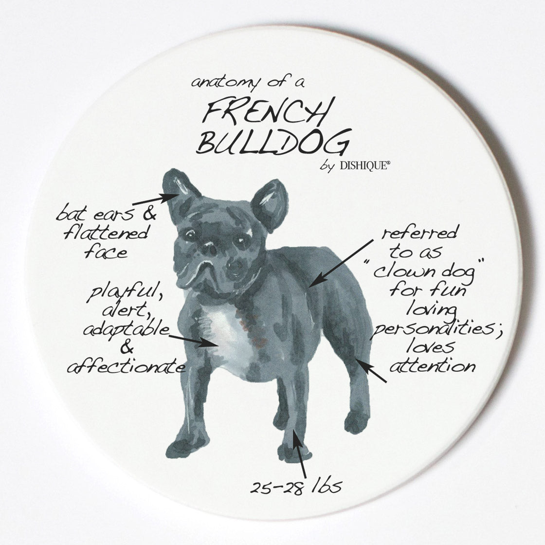 Individual Coaster - Dog Breed Gifts - French Bulldog