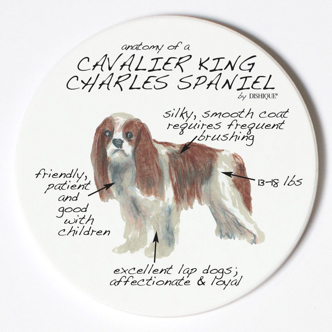 Individual Coaster - Dog Breed Gifts - King Cavalier