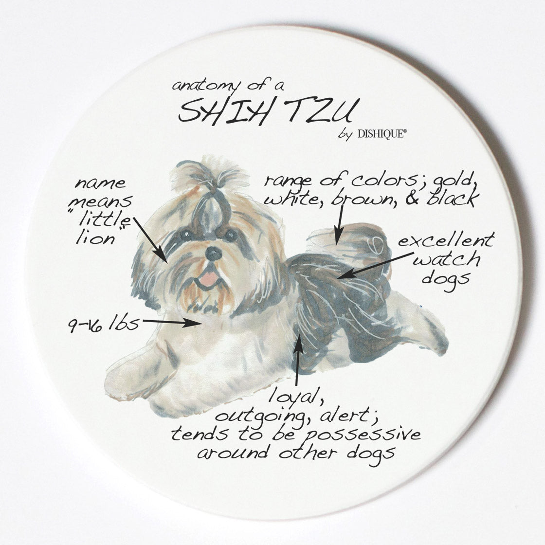 Individual Coaster - Dog Breed Gifts - Shih Tzu