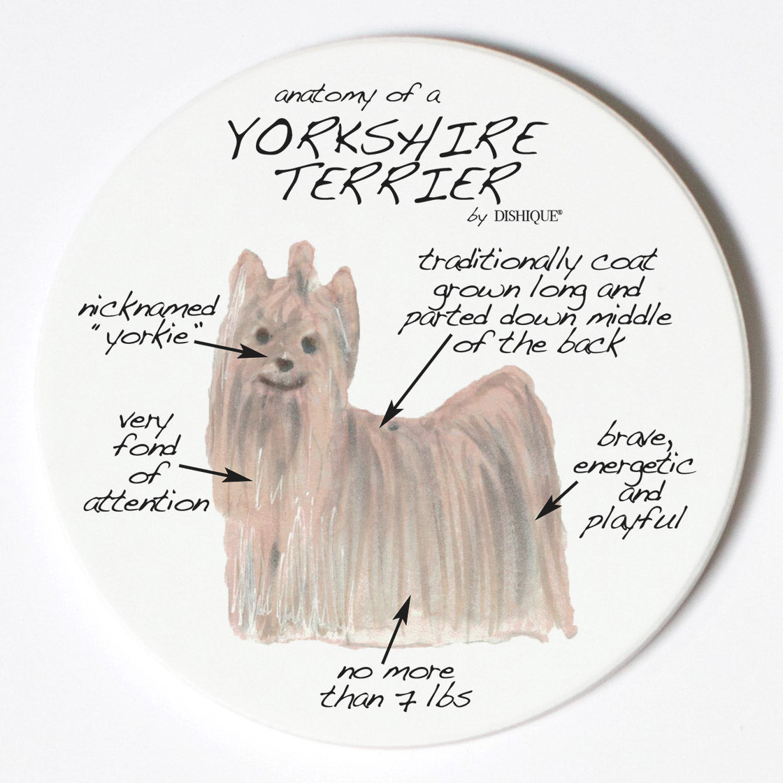 Individual Coaster - Dog Breed Gifts - Yorkshire Terrier
