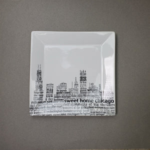 Chicago Dish - Large Square Plate - Dishique Lab Flawed