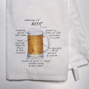 Anatomy of Beer Dish Towel