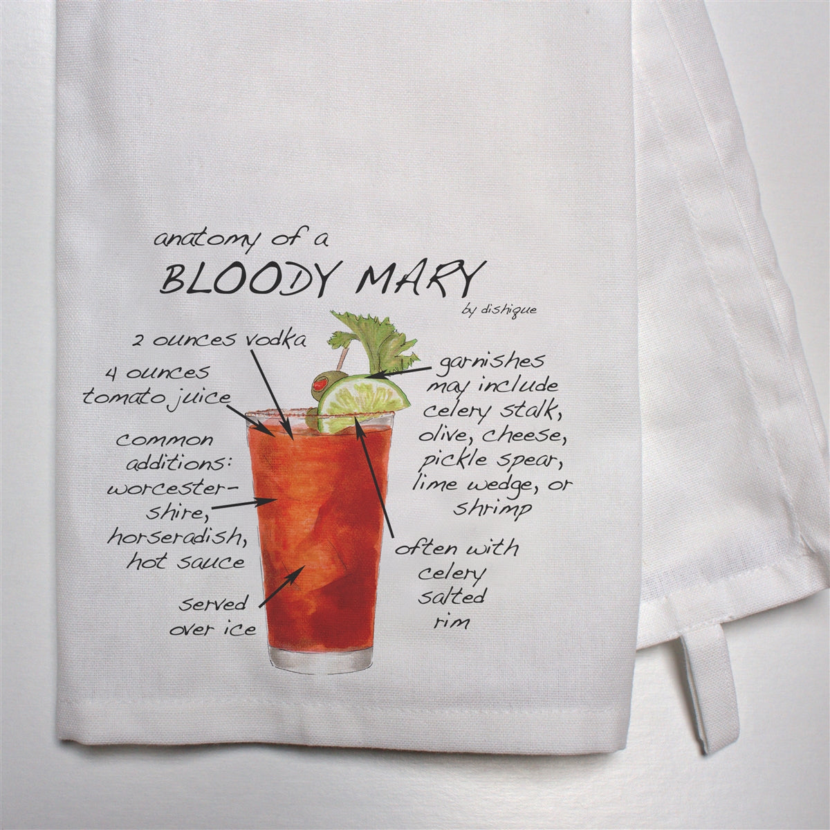Anatomy of a Bloody Mary Dish Towel