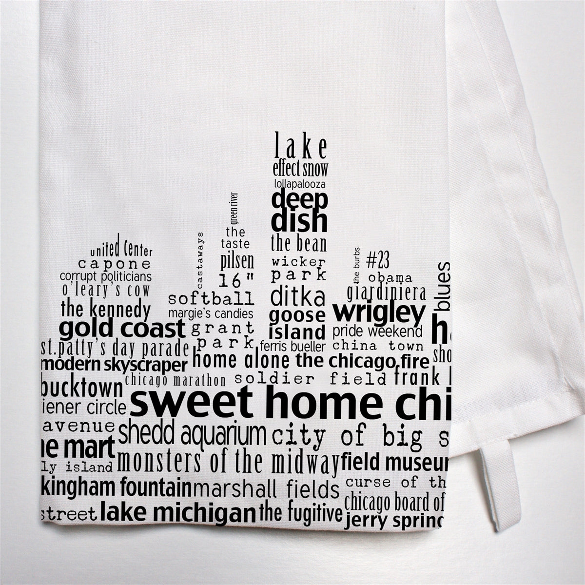 Chicago Skyline Bar Towel