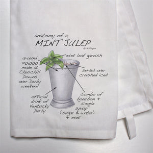 Anatomy of a Mint Julep Dish Towel