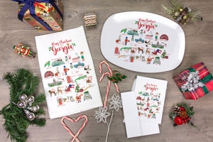 Merry Christmas from Georgia Alphabet Greeting Cards, Pack of 10 cards (blank inside)