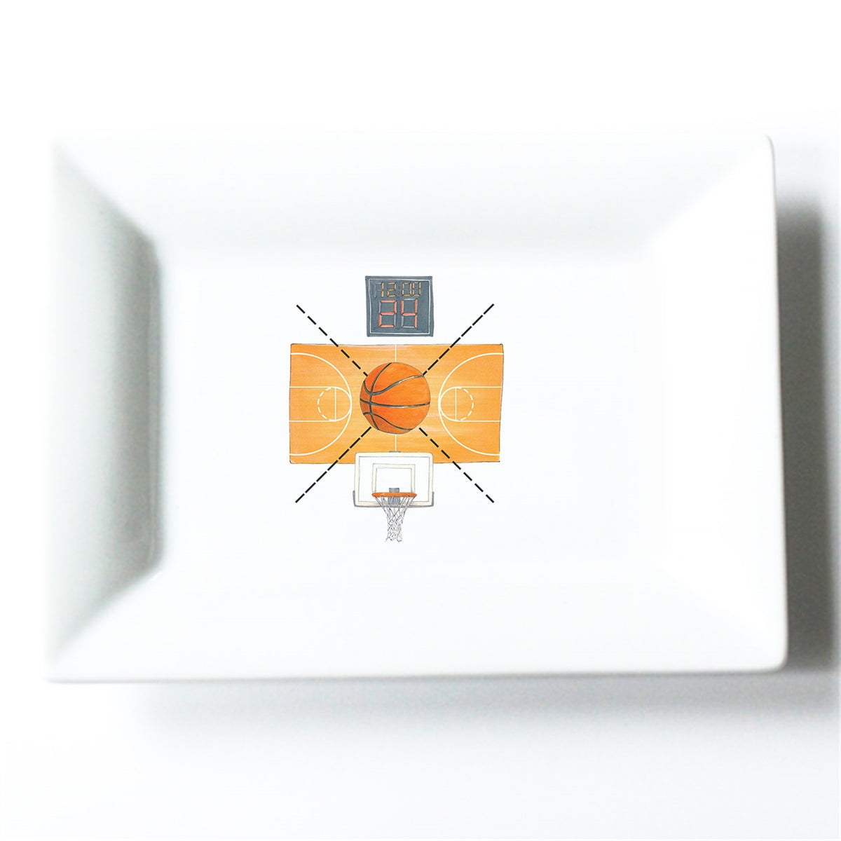 Basketball Crest Mini Dish