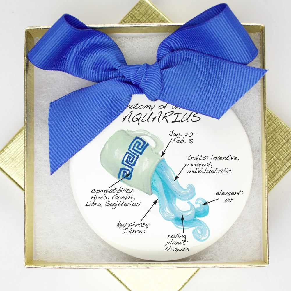 Aquarius Holiday Ornament