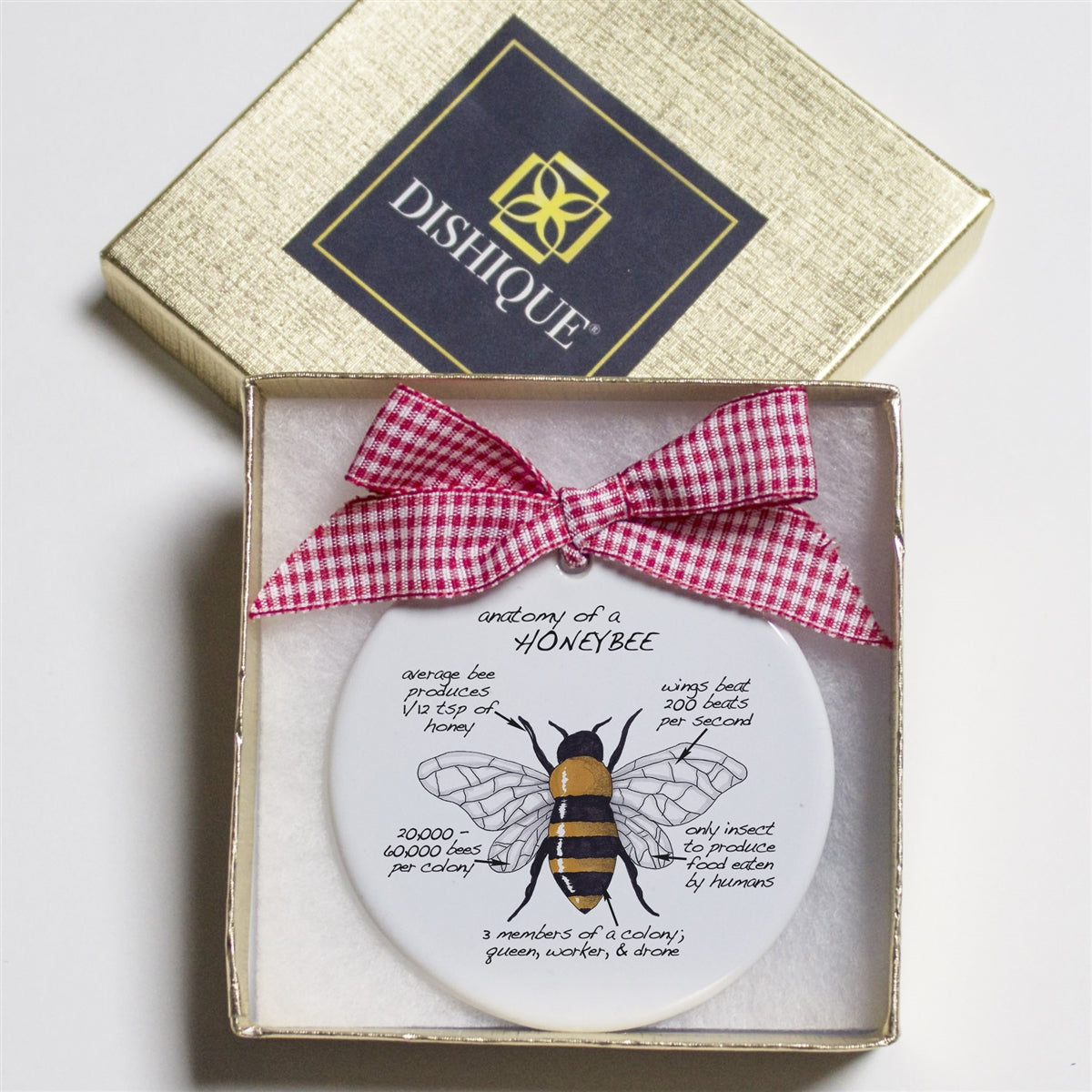 Honeybee Holiday Ornament