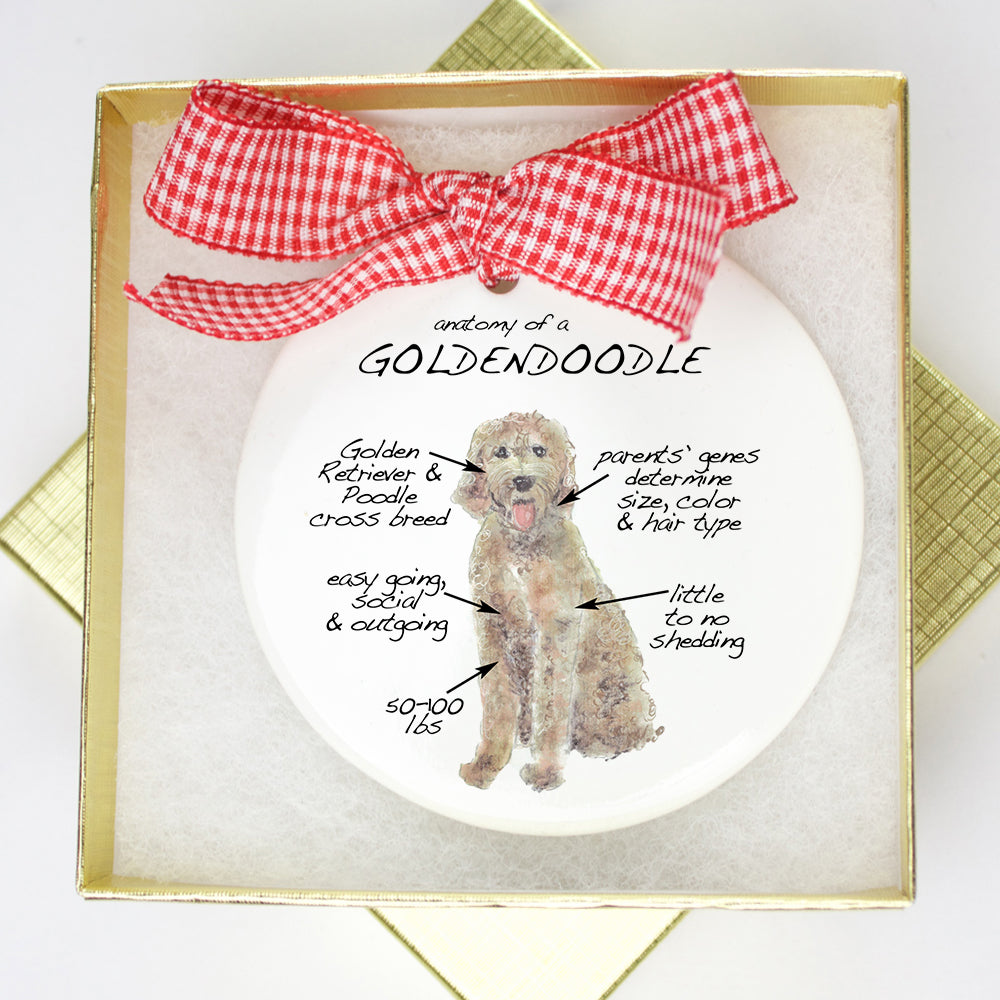 Goldendoodle Holiday Ornament - Dog Breed Gifts
