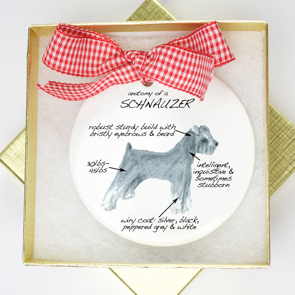 Schnauzer Holiday Ornament - Dog Breed Gifts
