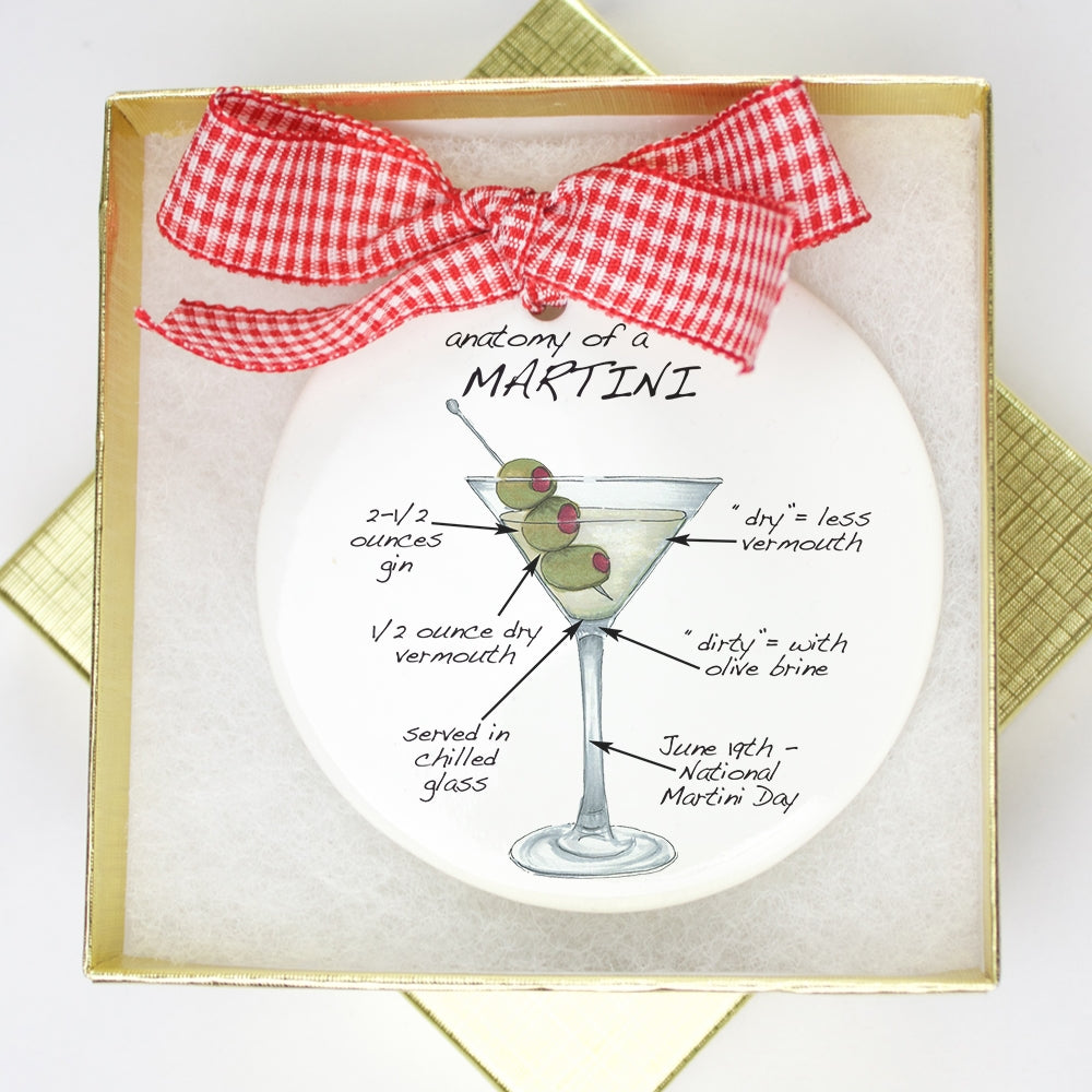Martini Holiday Ornament