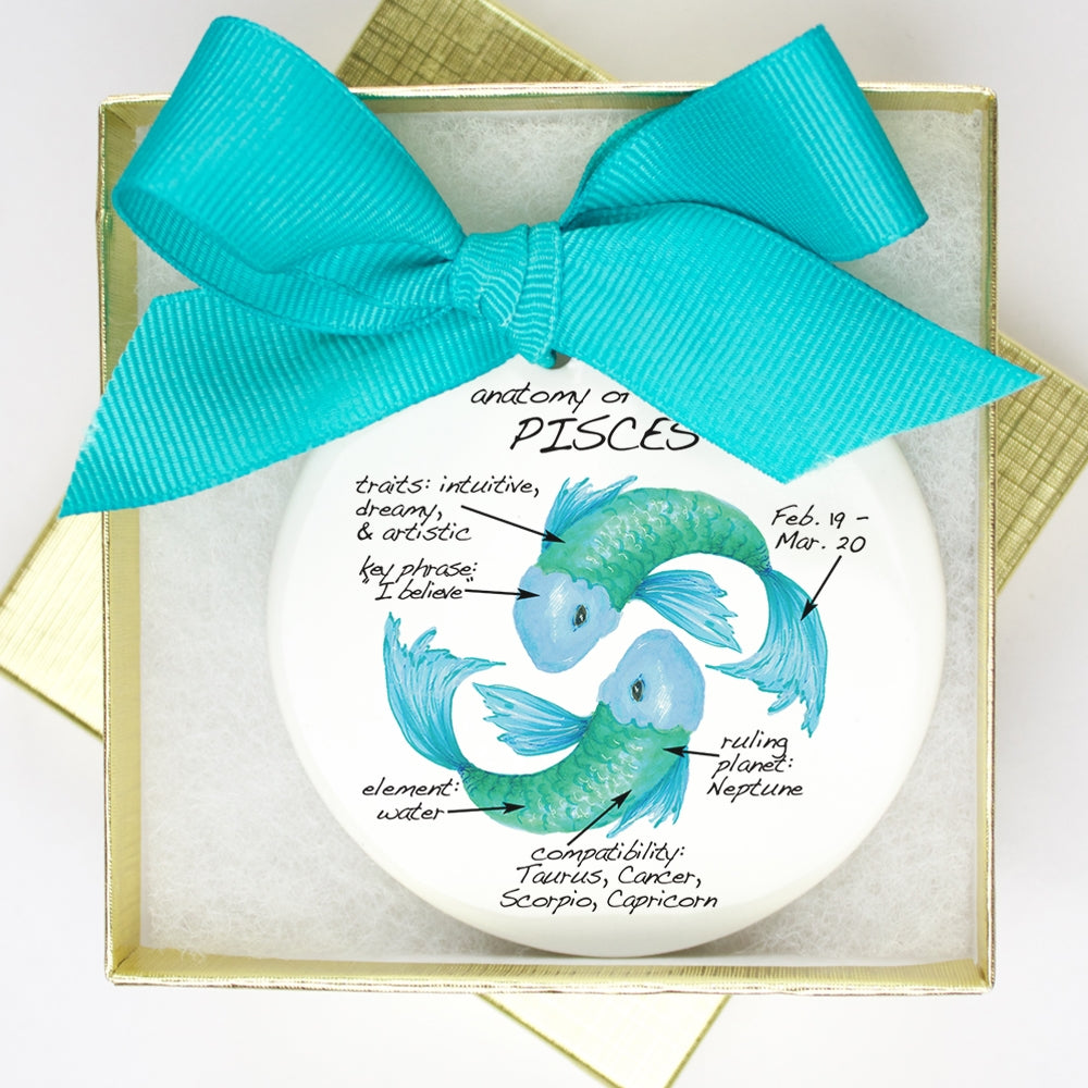 Pisces Holiday Ornament