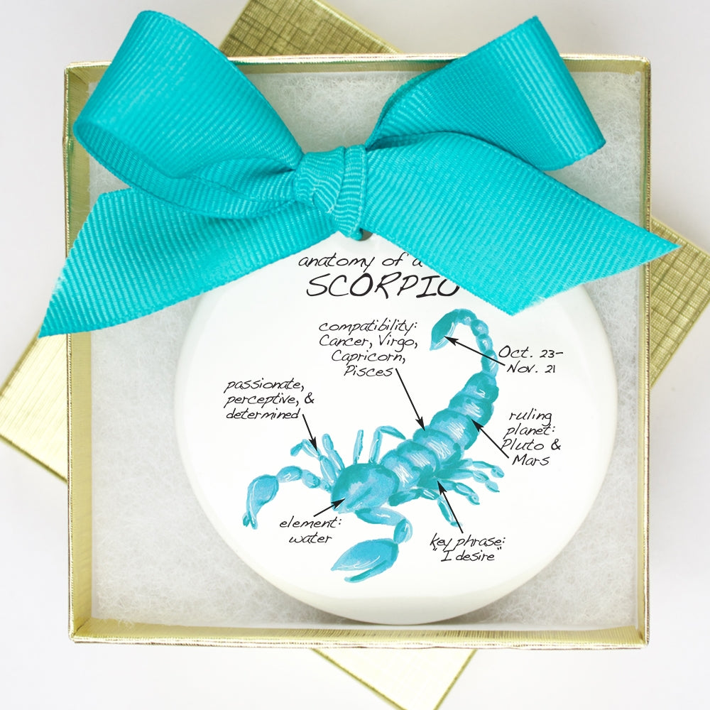 Scorpio Holiday Ornament