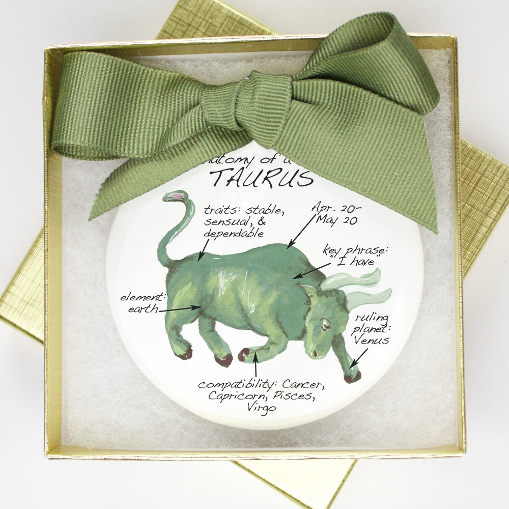 Taurus Holiday Ornament