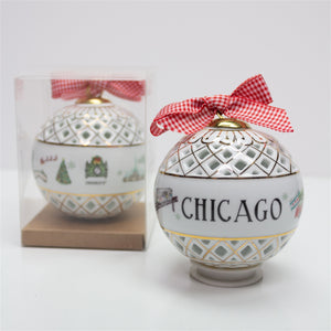 Chicago Christmas Ornament