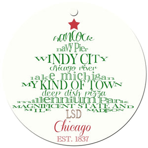 Chicago Holiday Ornament