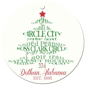 Dothan Holiday Ornament