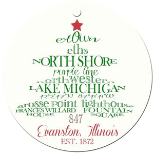 Evanston Holiday Ornament
