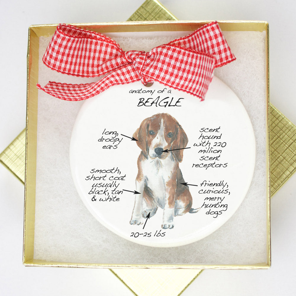 Beagle Holiday Ornament - Dog Breed Gifts