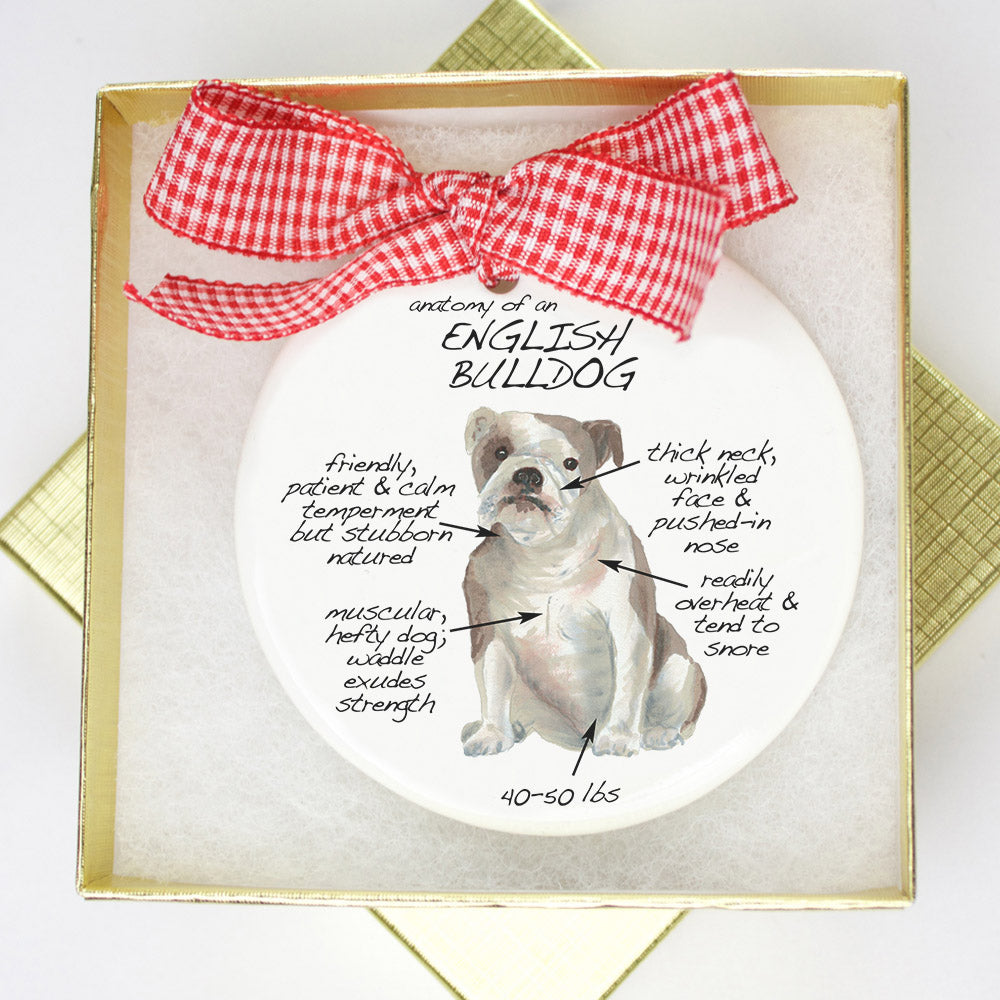 English Bulldog Holiday Ornament - Dog Breed Gifts