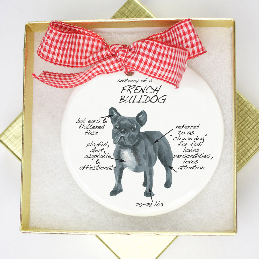 French Bulldog Holiday Ornament - Dog Breed Gifts