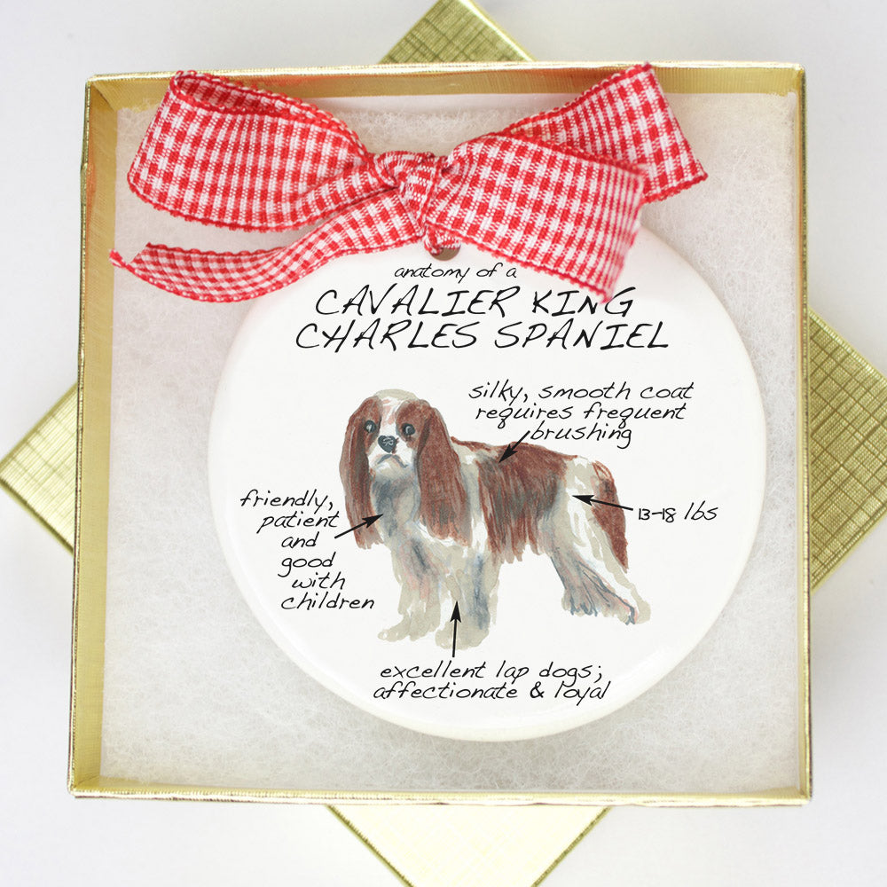 King Cavalier Holiday Ornament - Dog Breed Gifts