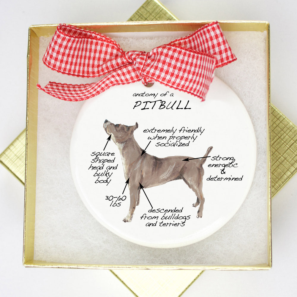 Pitbull Holiday Ornament - Dog Breed Gifts