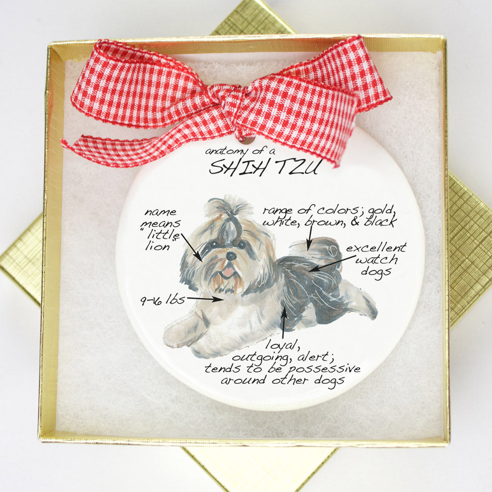Shih Tzu Holiday Ornament - Dog Breed Gifts