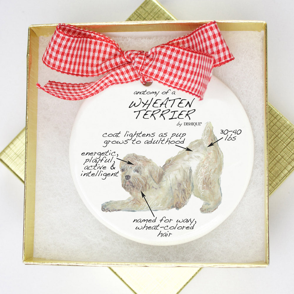 Wheaten Terrier Holiday Ornament - Dog Breed Gifts