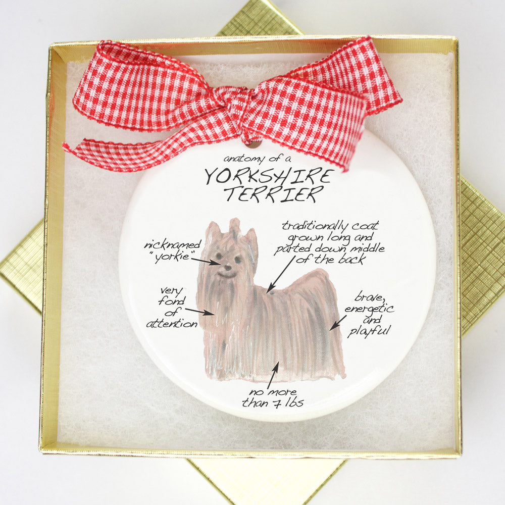 Yorkshire Terrier Holiday Ornament - Dog Breed Gifts