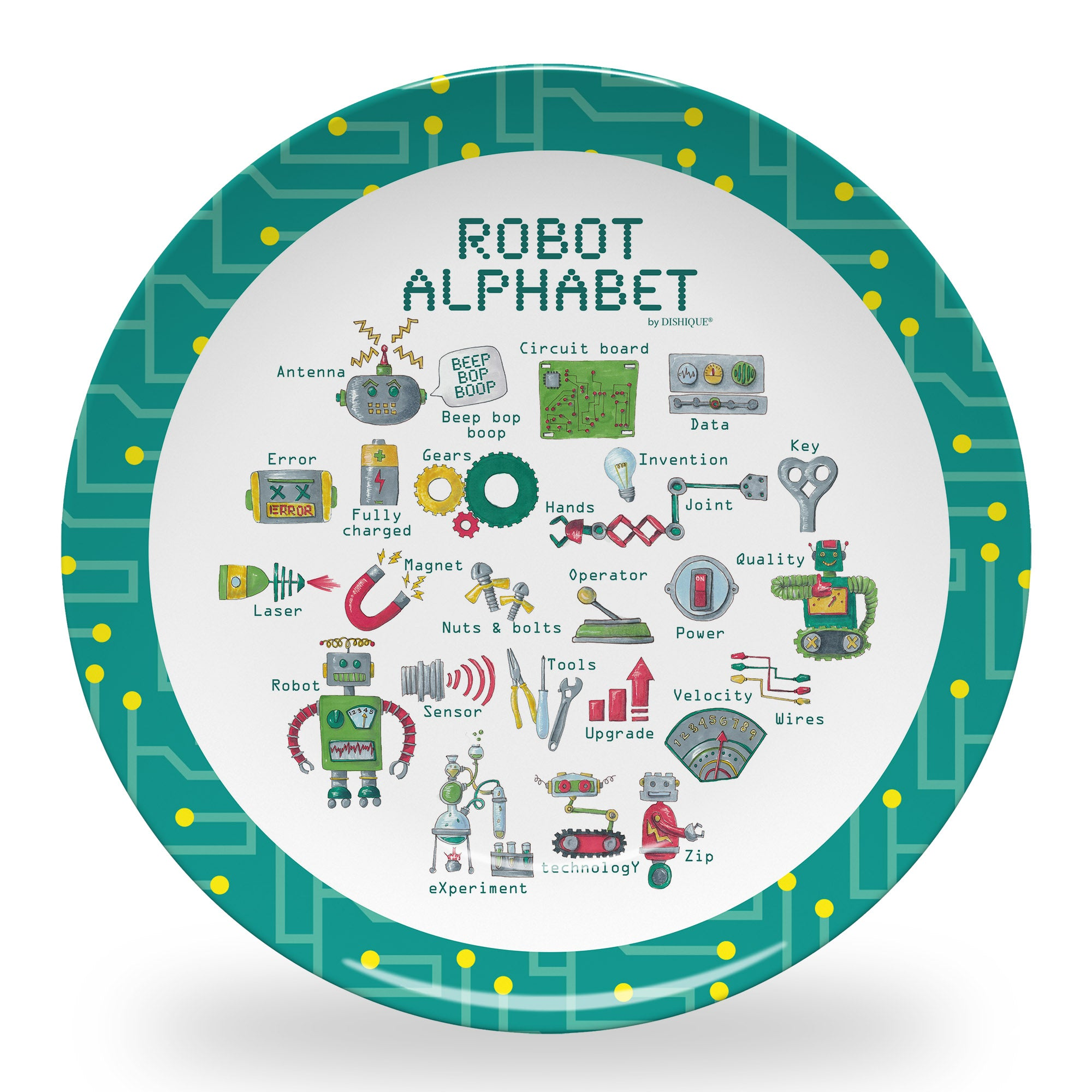 "Robot Alphabet 10"" Thermosaf Polymer Plate"