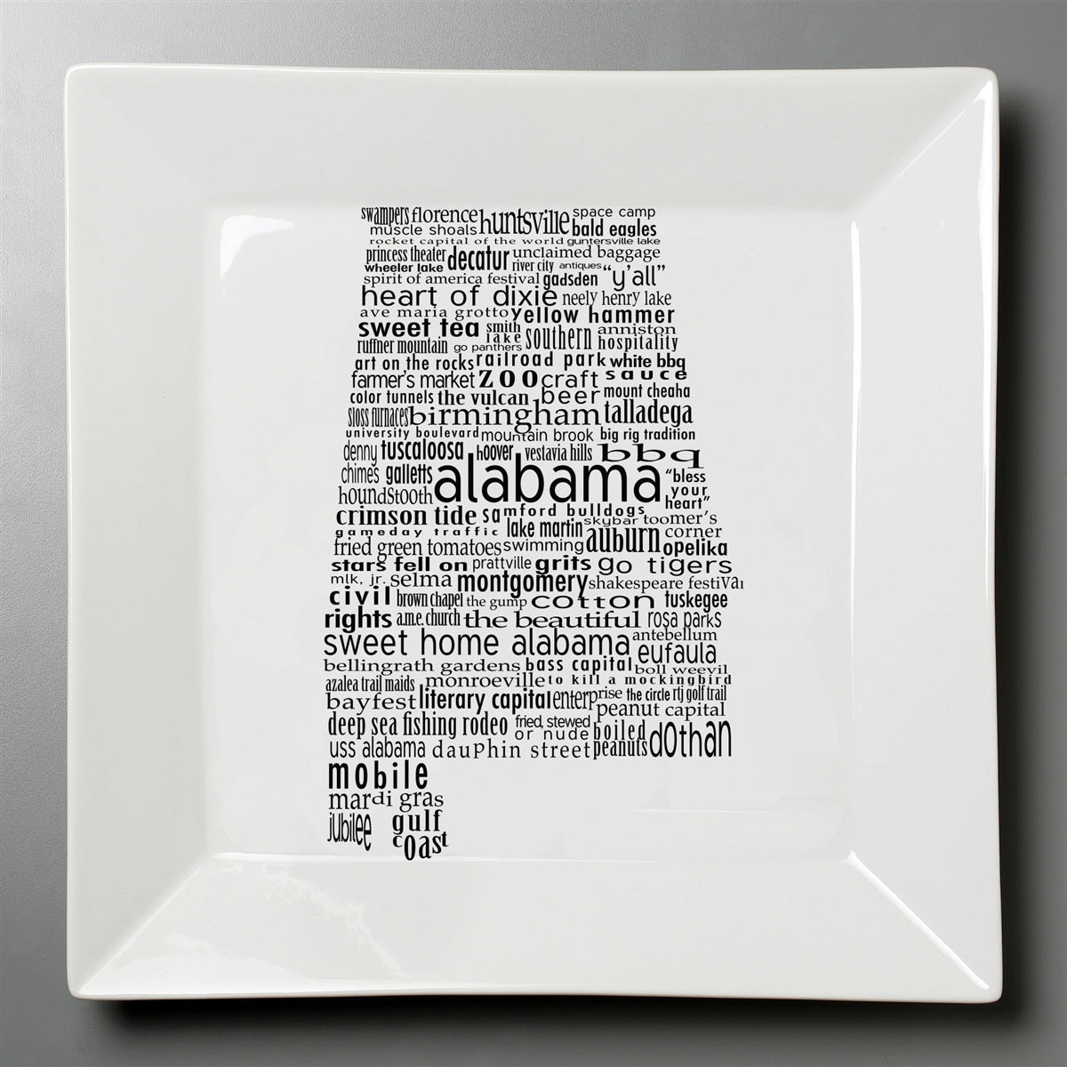 Alabama Dish - Large Square Plate