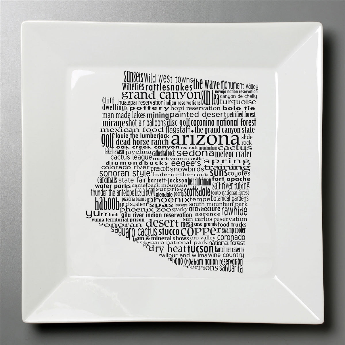 Arizona Dish - Large Square Plate