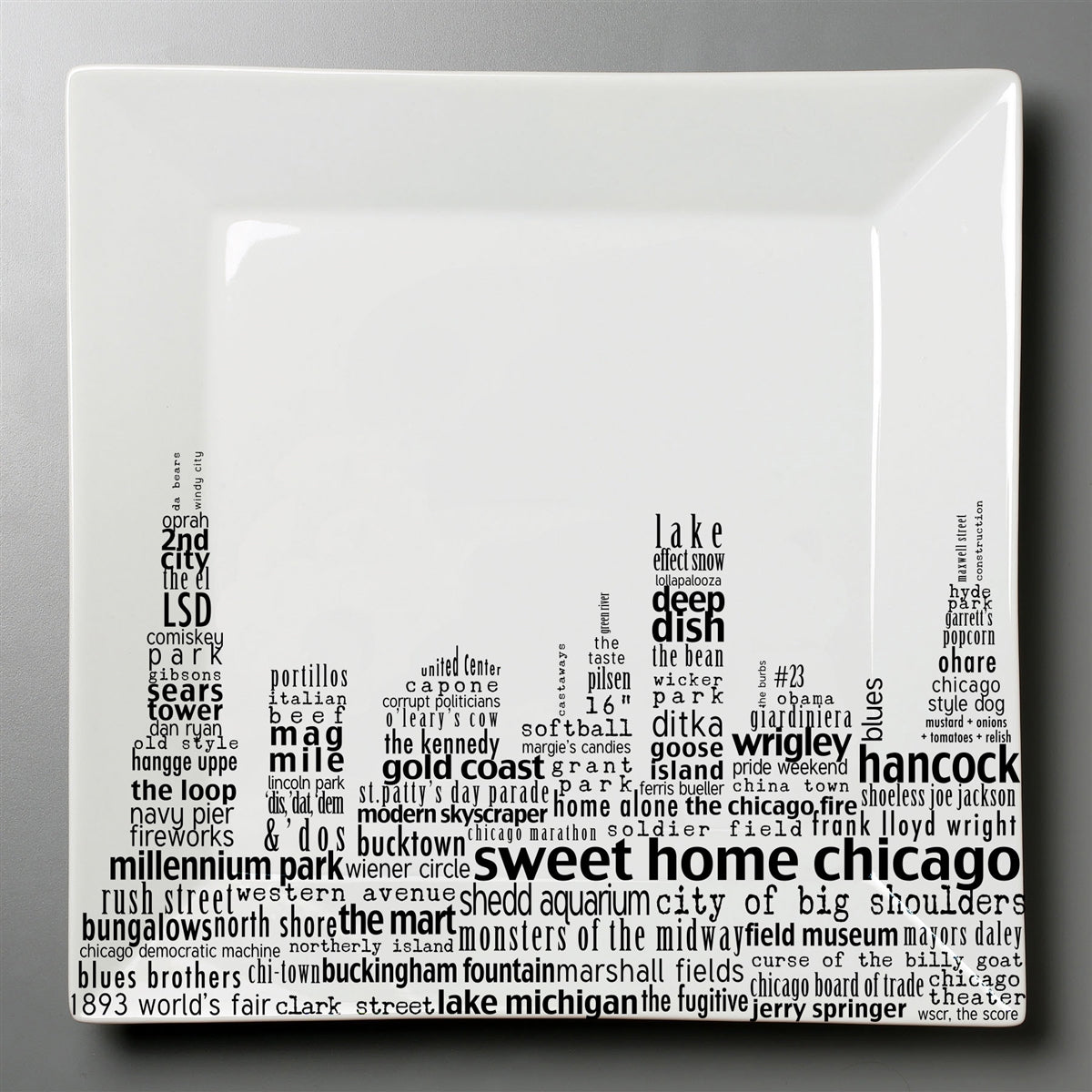 Chicago Dish - Large Square Plate