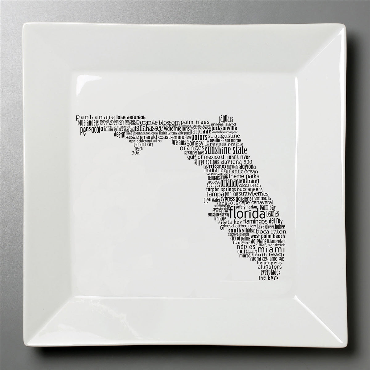 Florida Dish - Large Square Plate