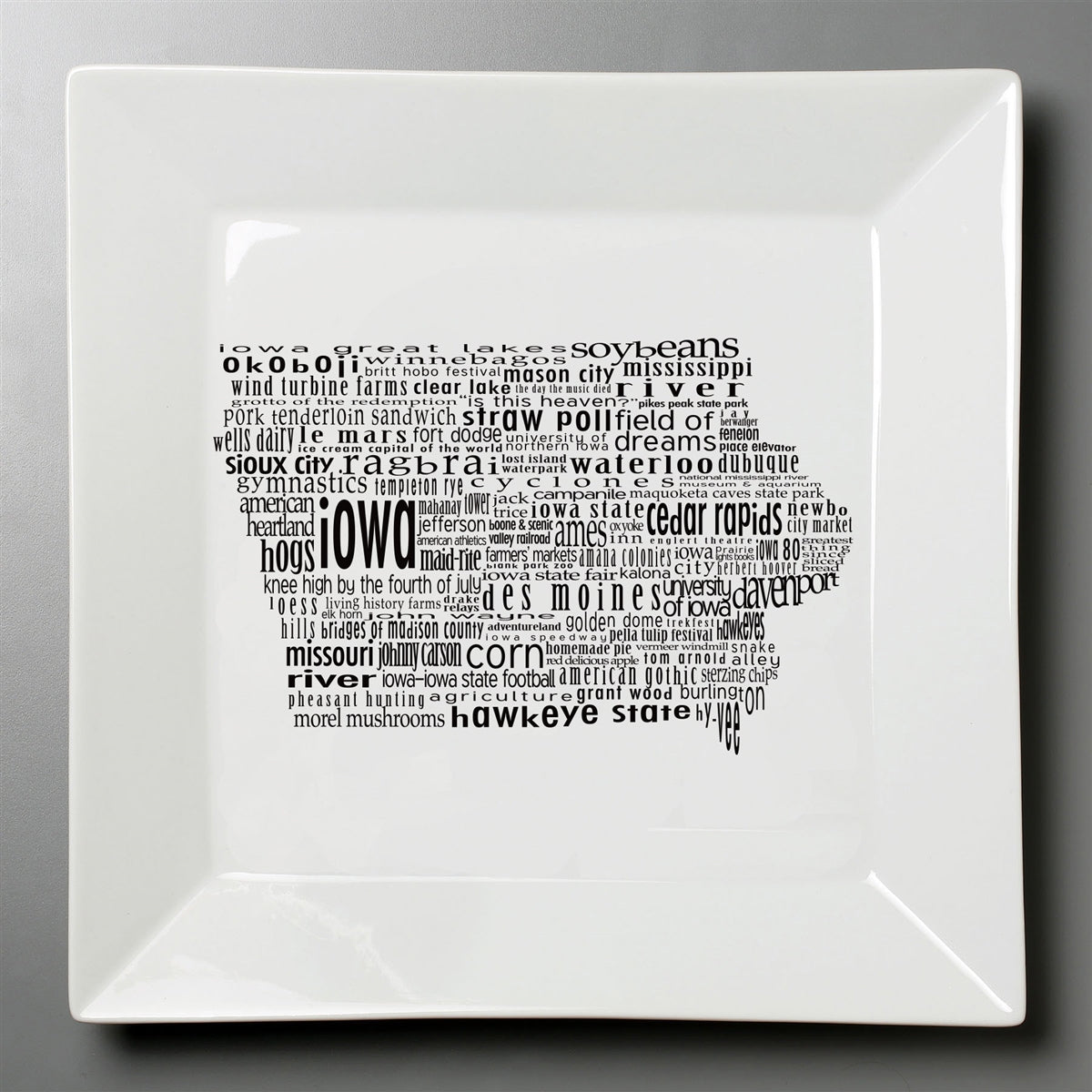 Iowa Dish - Large Square Plate