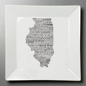 Illinois Dish - Large Square Plate